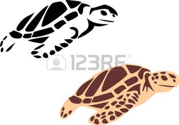 oceaan%3A+zeeschildpad+Stock+Illustratie
