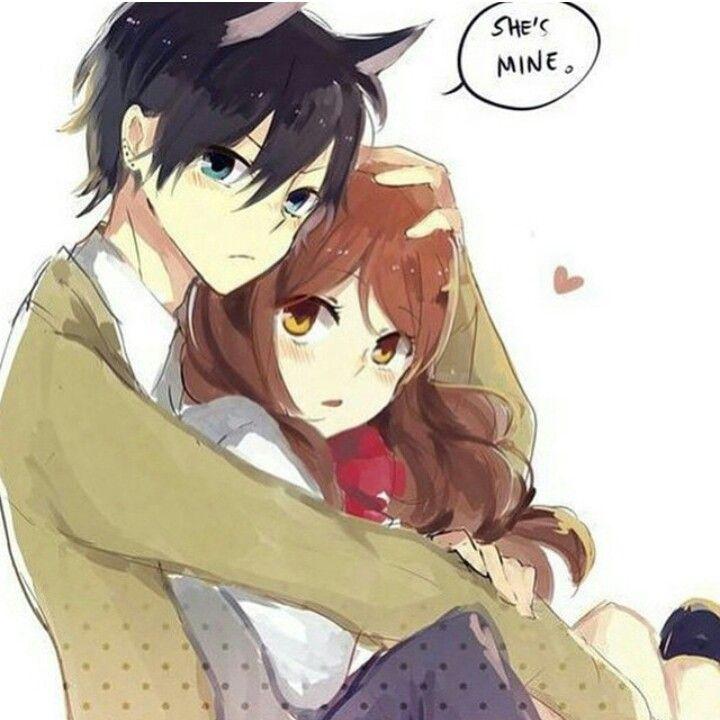 She 39 s mine anime hug pinterest - Anime boy hugging girl ...
