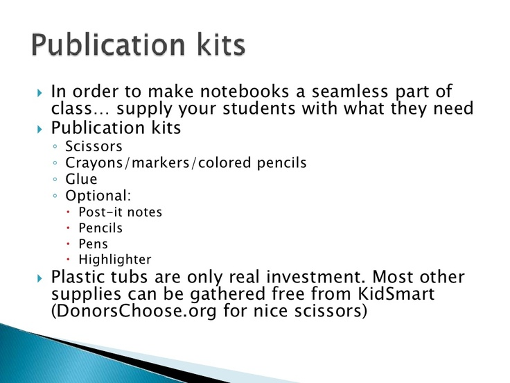 Information about interactive notebooks for teachers
