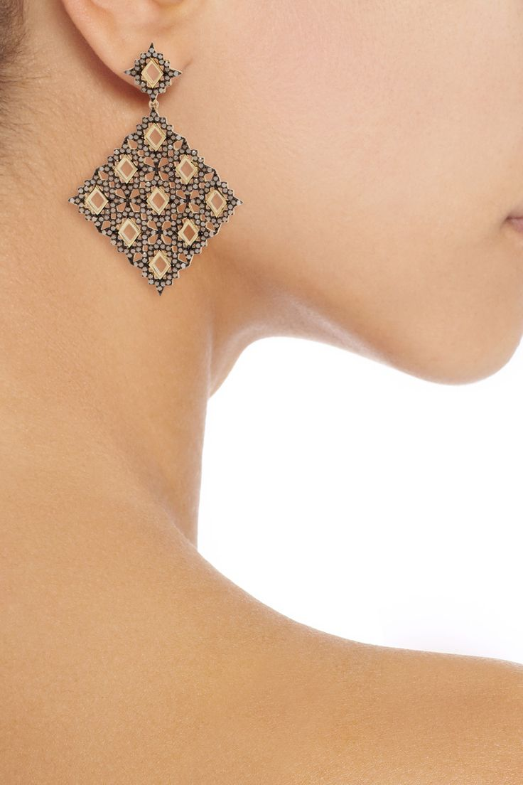 Shop on-sale Noir Jewelry Plateau gold-tone crystal earrings. Browse other discount designer Jewelry & more on The Most Fashionable Fashion Outlet, THE OUTNET.COM