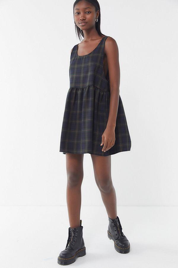 e50336e46d1 Slide View  4  Urban Renewal Remnants Plaid Babydoll Dress