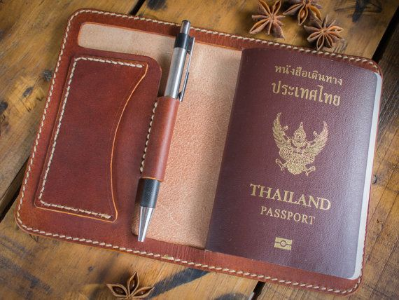 Leather passport holder Leather passport wallet от AdosLeather