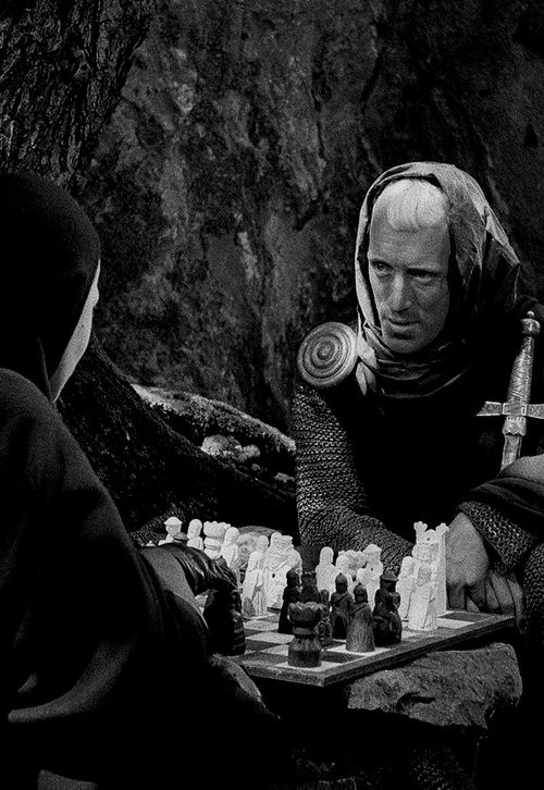 Max Von Sydow in Ingmar Bergman's The Seventh Seal
