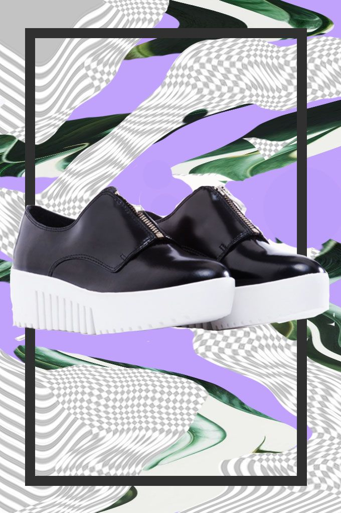 Opening Ceremony Grunge Zip Front Platform Oxfords available at Solestruck.