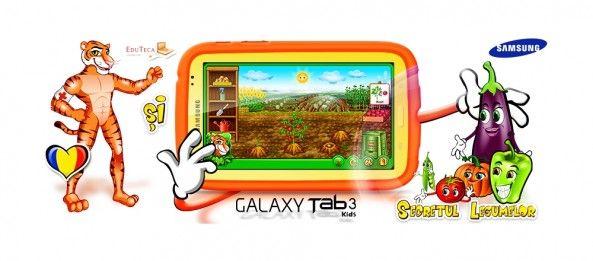 Samsung GALAXY Tab 3 Kids, disponibilă în România împreună cu aplicațiile educaționale EduTeca