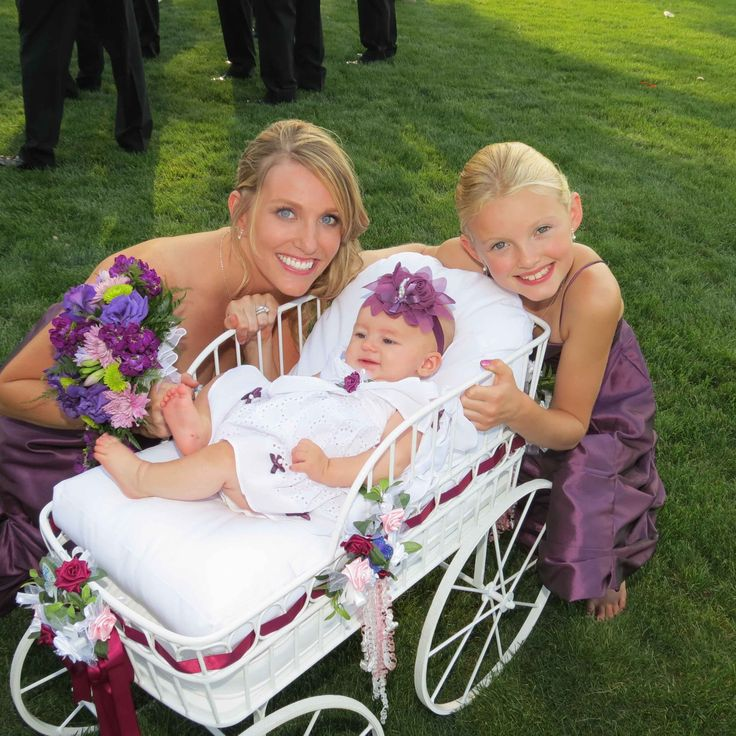 Wedding Wagon for Infant, Child, Flower Gril