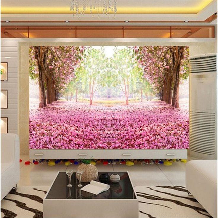 photo wallpaper quality wall painting for living room European TV backdrop bedroom 3d romantic cherry large mural wallpaper #Affiliate