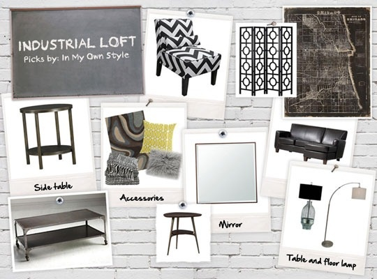 Vote for Your Favorite Room over at YourPicksYourPlace.com sweepstakes.  You can win $10,000! I I was asked to design an Industrial Loft Living Room for my first room.  InMyOwnStyle.