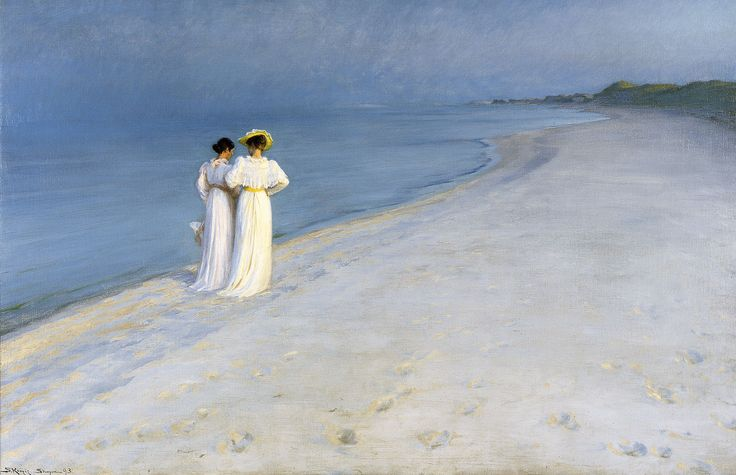 P.S Krøyer: Summer evening on Skagen Sønderstrand. 1893   Skagens Kunstmuseer    Art Museums of Skagen