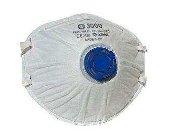 Mascarilla de seguridad olympo 3000 con valvula Mascarillas preformadas con bandas elasticas Olympo 3000 – ffp3 nr d según norma  en 149:2001+a1:2009  #epi #mascarilla #seguridad