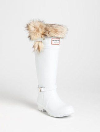 If only NO FUR...love the white Hunter Boot