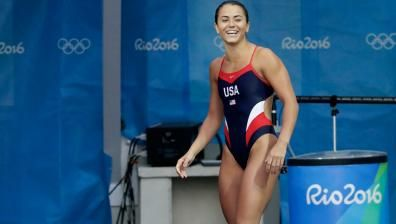 USA's Kassidy Cook after failing to reach her diving final at Rio 2016