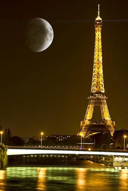 Paris Tower by Night