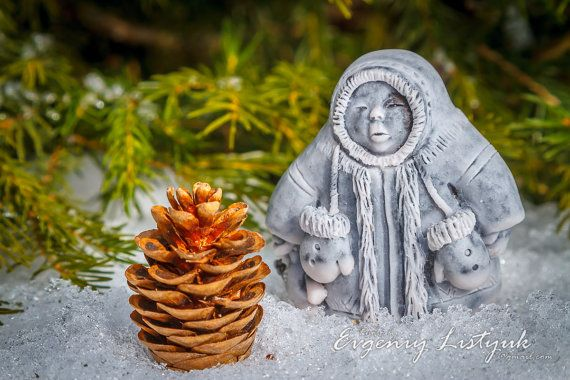 MARBLE Russian Handmade Souvenir Gift Native Siberian child with a toy on Etsy, 24,99$