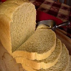 Anadama Bread (bread machine)  I just dumped all in machine..wet (with warm water), flour, yeast on top.  10/10 stars----T.