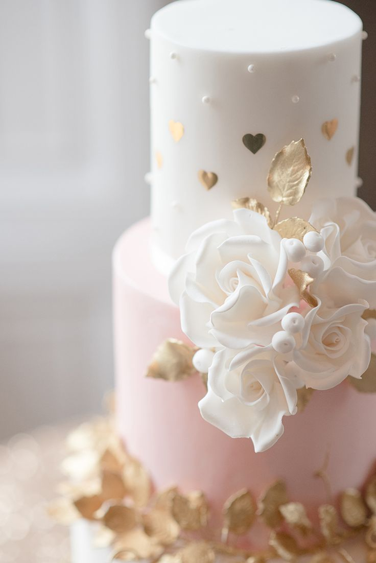 Pink Gold Heart Cake Flowers Greenery Fine Art Botanical Wedding Ideas http://georginaharrisonphotography.co.uk/
