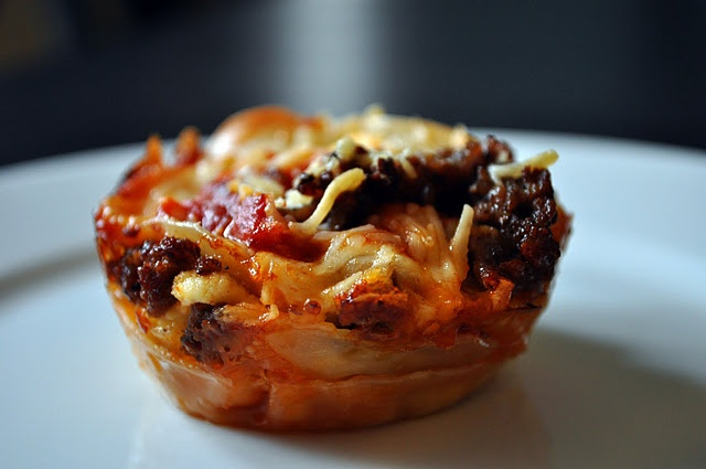 lasagna cupcakes | Get in my Belly | Pinterest