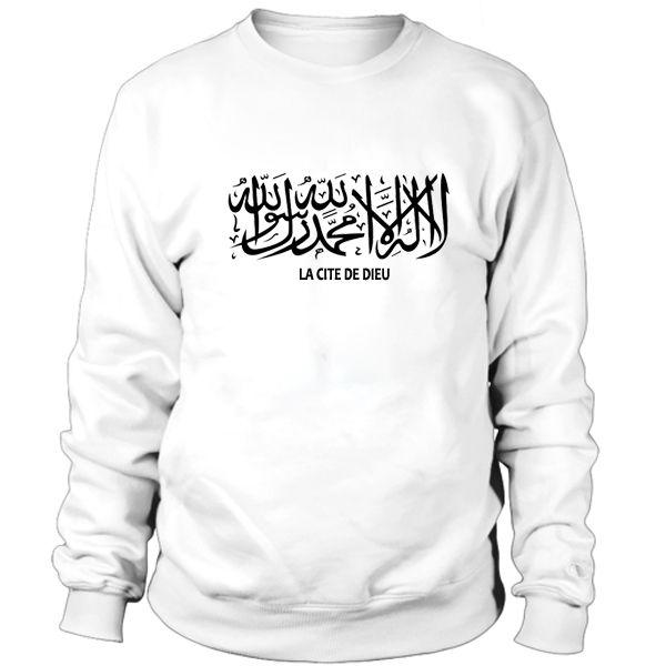 Arabic letters, La cite de dieu Sweatshirt