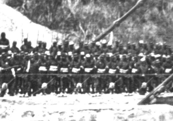 Regimiento Atacama sobre el Puente Lurín antes de la Batalla de Chorrillos