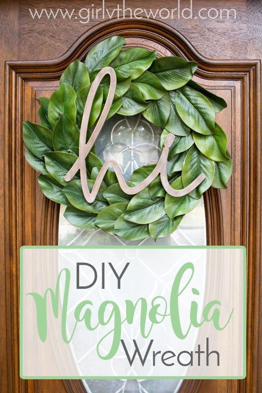I have been dreaming about having a magnolia wreath for about a year now. Everywhere I've looked to buy one, though, I've nearly been knocked down by the price tags. $50 plus dollars for a wreath–seriously?! No, thanks. It should come as no surprise to you (if you've followed me for at least 5 minutes …