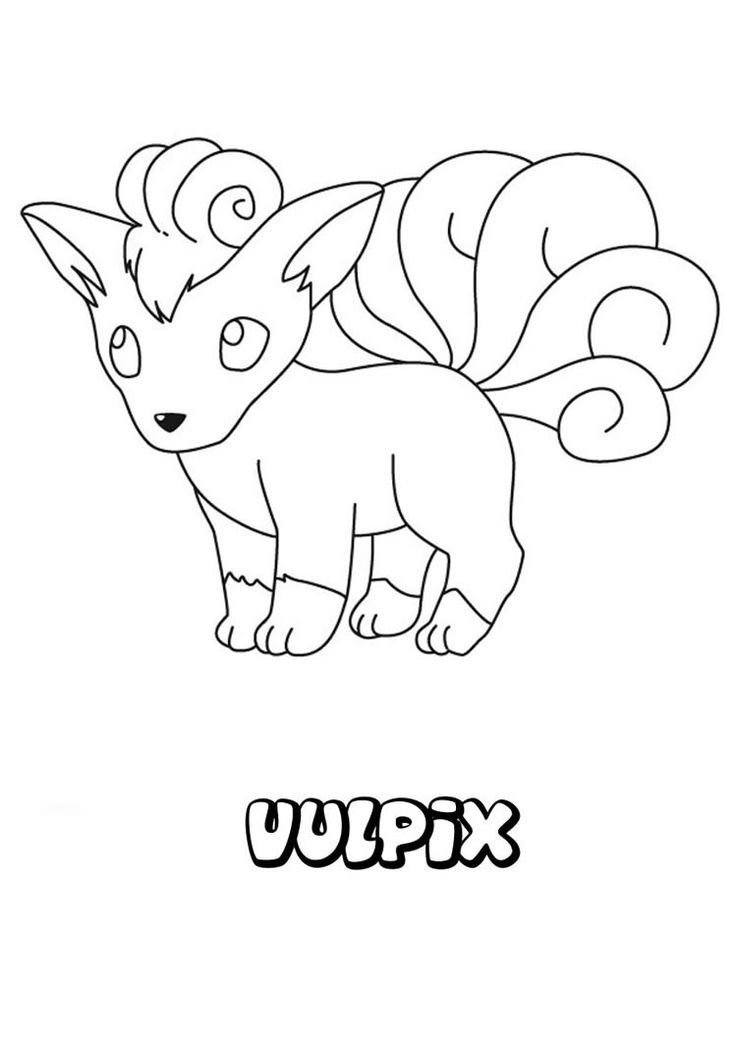 Vulpix Pokemon Coloring Page More Pages On Hellokids
