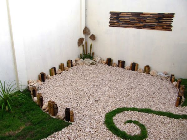 17 best images about jardin on pinterest gardens palmas for Jardines minimalistas con bambu