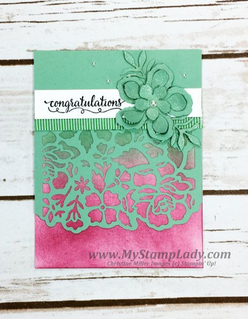Stampin' Up! Detail Floral Thinlits handmade congratulations card So In Love shop at http://www.shopwithmystamplady.com