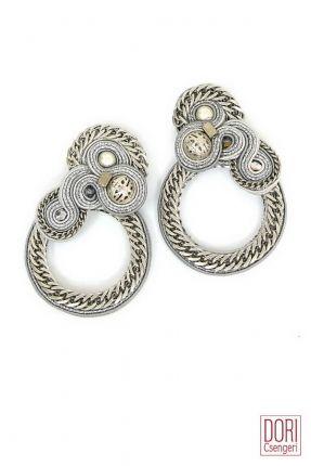 Xena edgy silver clip on earrings by Dori Csengeri  #DoriCsengeri #edgy #style #designerjewelry #trendy #silver #earrings