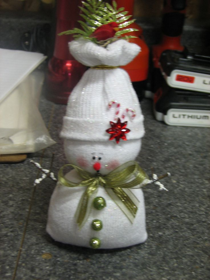 Craft ideas on pinterest santa ornaments sock snowman and snowman