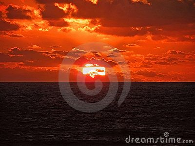 A beautiful sunset off the coastline of Port Elizabeth in the Eastern Province of South Africa.