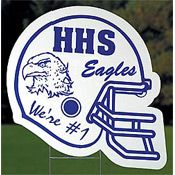 Helmet Personalized Yard Sign