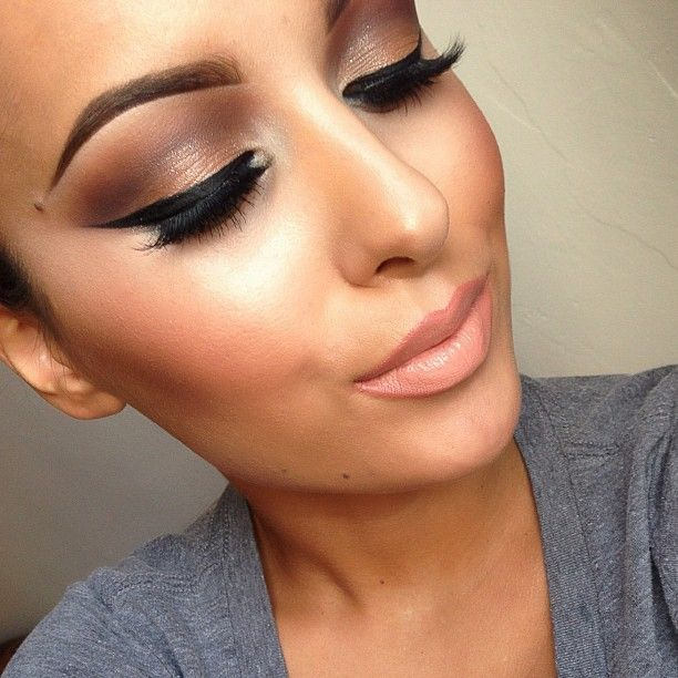 Brown smokey eyes can be just as pretty as black, but softer.