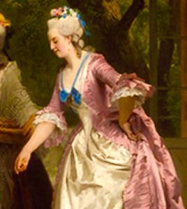 Details from 4 paintings of Marie Antoinette by or...