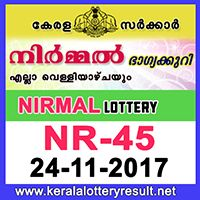 24.11.2017 : Nirmal Lottery NR-45 Result