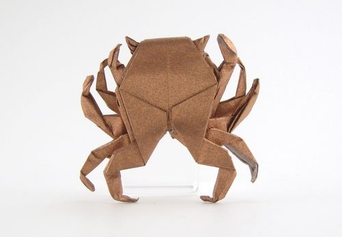 Origami Crab by Peter Engel folded by Gilad Aharoni
