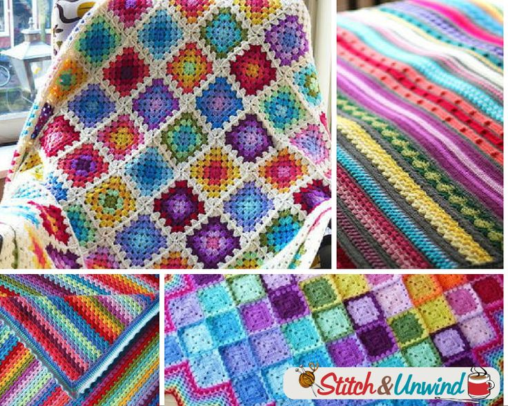 Free Crochet Pattern Rainbow Blanket : 355 best images about Rainbow Colored Crochet on Pinterest ...