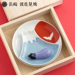 Set of Plates and Chopstick Rests Fuji Aubergine