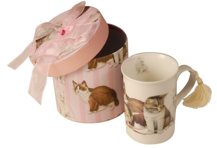 Tazza latte con gatto. http://www.recordit.com/