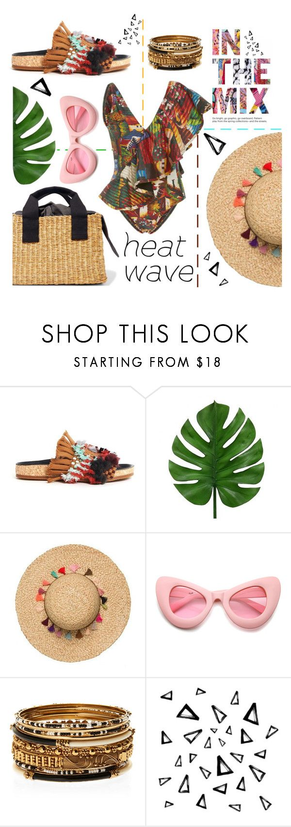 """""""beach party"""" by evelin93 ❤ liked on Polyvore featuring Chloé, Água de Coco, ZeroUV, Amrita Singh, Nika and heatwaves"""