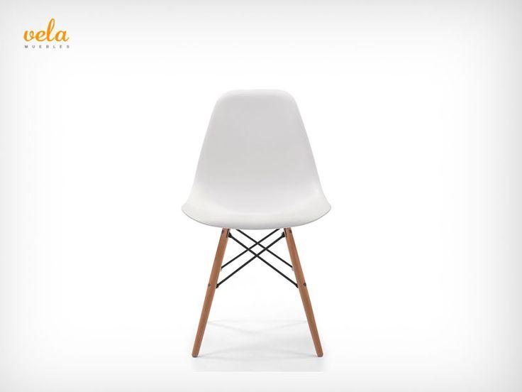 Silla Eames original en color blanco. Para el comedor, dormitorio o habitación. Y como no, para tu lugar de trabajo. Una apuesta segura. Mira qué precios