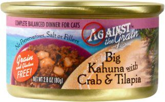 Against the Grain Big Kahuna with Crab & Tilapia Dinner Grain-Free Canned Cat Food, 2.8-oz, case of 24