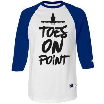 Gymnast Shirt On Point Unisex Champion Raglan Baseball T-Shirt