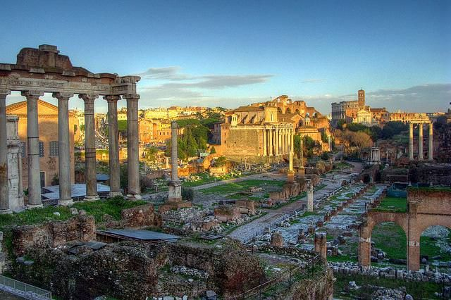 Top 10 things to do in Rome - The Roman Forum in Rome at sunset by Robert Lowe