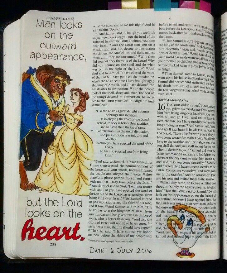 Bev Knaup bible journaling 1 Samuel 16:7