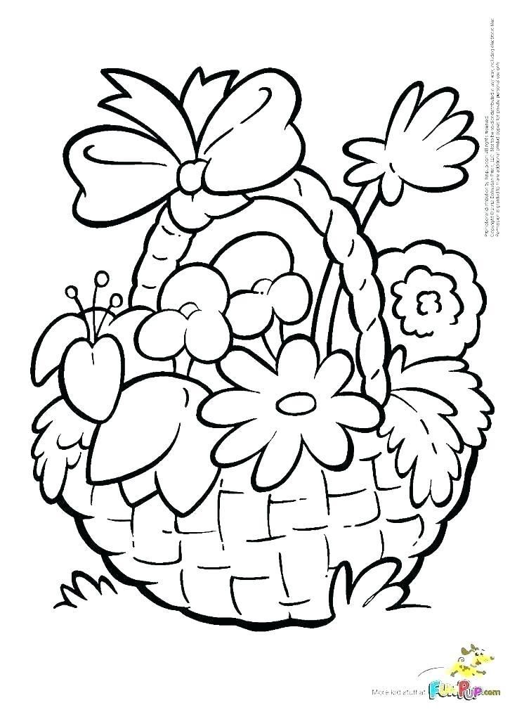 Easter Baskets Coloring Pages Egg Basket Page Printable Flower Coloring Pages Coloring Pages Free Printable Coloring Pages