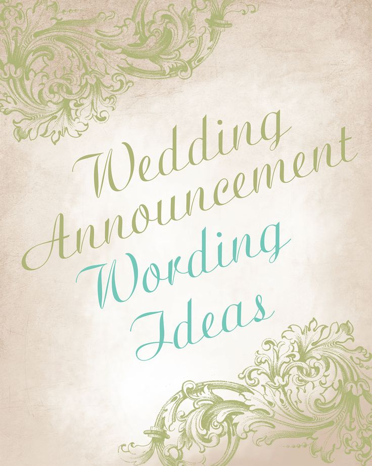Wedding announcement wording ideas - Advice and Ideas | Invitations By Dawn
