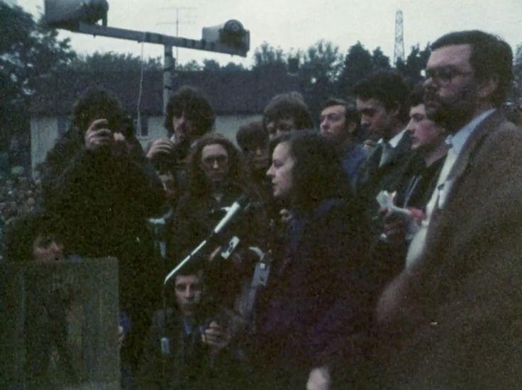 Northern Ireland, Troubles, Hunger Strike, IRA, POW, H-Block, 1980, Rally, Bernadette Devlin