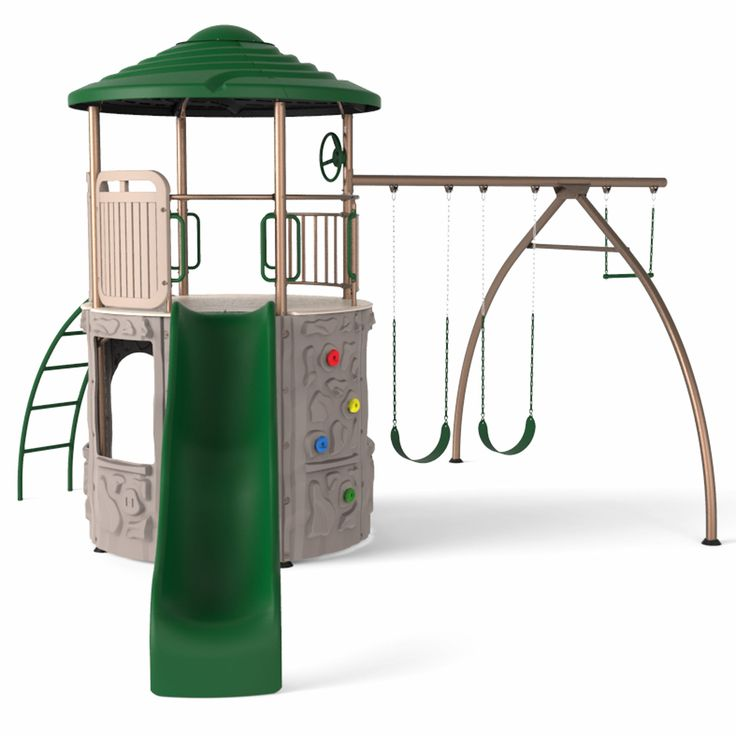 Lifetime Adventure Tower Metal Swing Set
