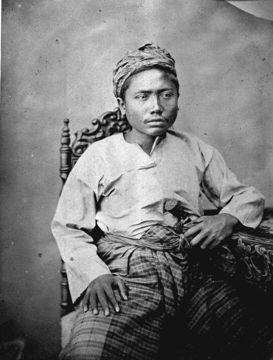 1870 Studio Portrait of a Datu from 'Soenggal' (near Medan, North Sumatra)