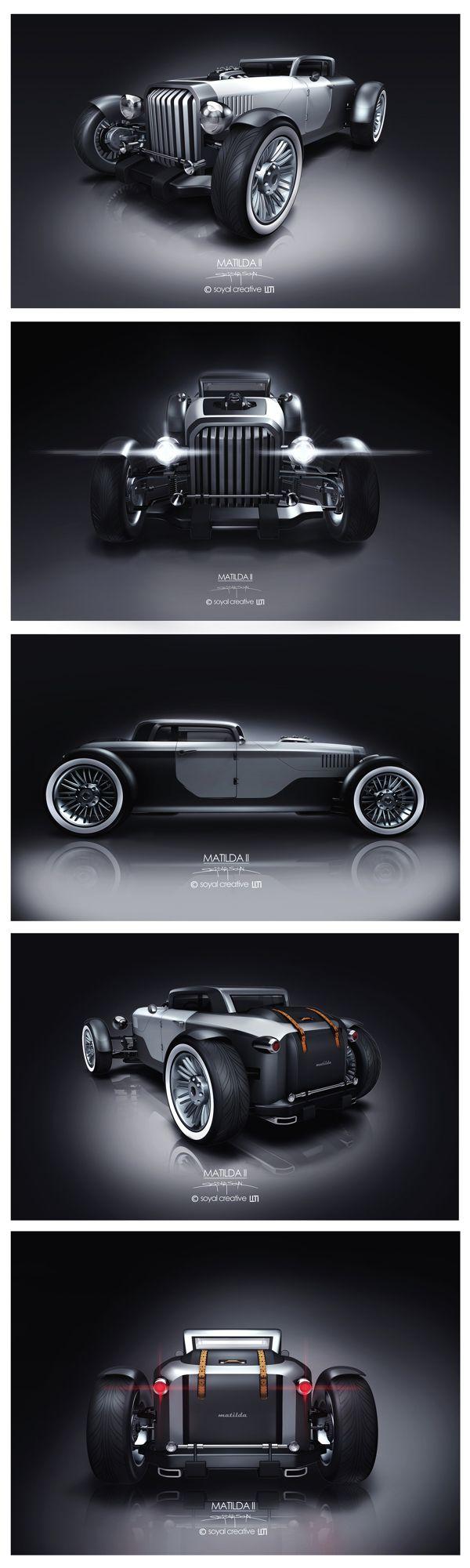 200+ ideas for my new Street Rod - Matilda II by Serdar Soyal, via Behance